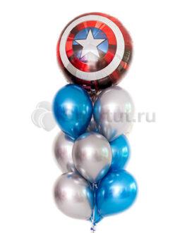 Композиция из шаров с щитом Капитана Америки