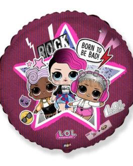 Фольгированный шар Куклы LOL розовый