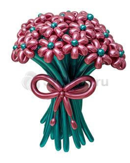 Цветы из хромированных шаров