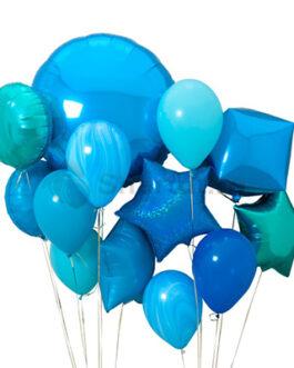 Композиция шаров из синих шаров