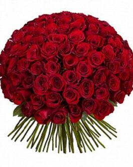 101 красная роза Ред Наоми 40 см