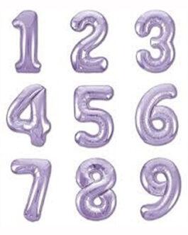 Шары цифры сиреневые