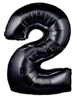 Шар цифра 2 черная