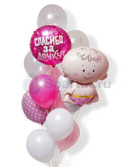 Композиция шаров для выписки спасибо за дочку