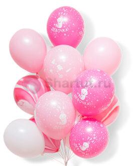 Композиция из латексных шаров для девочки