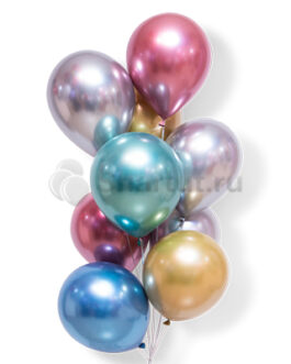 Облако хромированных шаров 20 шт