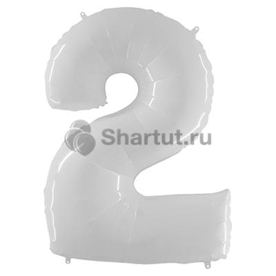 Шар цифра 2 белая