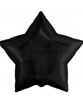 Фольгированная чёрная звезда 76 см