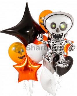 Композиция шаров Хэллоуин скелет