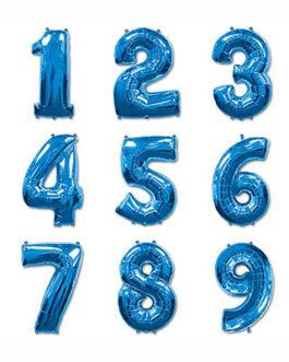 Шары цифры синие