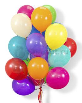 Облако разноцветных латексных шаров 25 шт