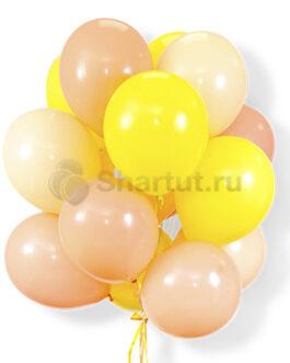 Облако желто-розовых шариков 25 шт