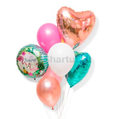 Композиция из шаров с бронзовым сердцем