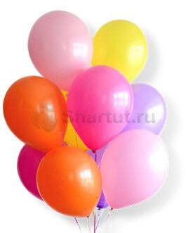 Облако воздушных разноцветных шариков 25 шт