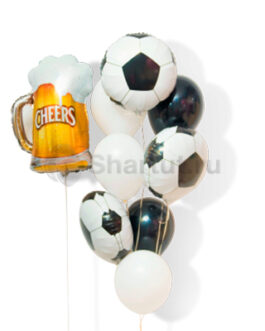 Композиция из шаров с кружкой пива