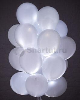 Светящиеся шары с диодами «Белые» 20 шт