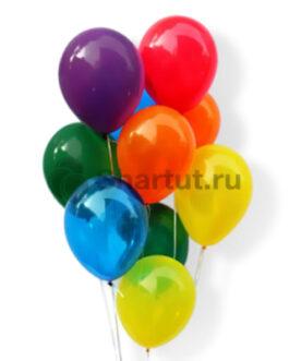 Облако цветных полупрозрачных шаров 20шт.