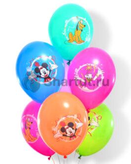 """Облако шаров с рисунком """"Микки и его друзья"""" 20шт."""
