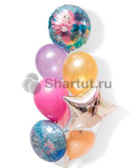 Композиция шаров из звезды и круглых шаров