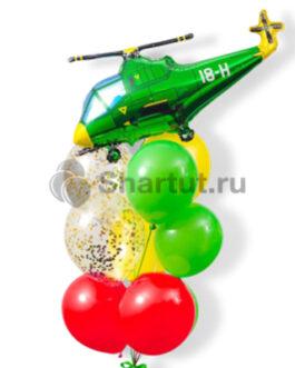 Композиция шаров с вертолетом