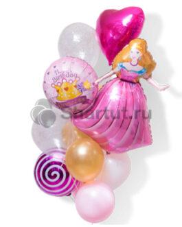 Композиция шаров с принцессой