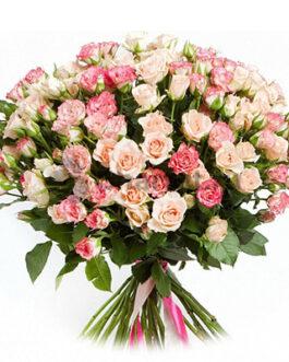51 кустовая роза 60 см
