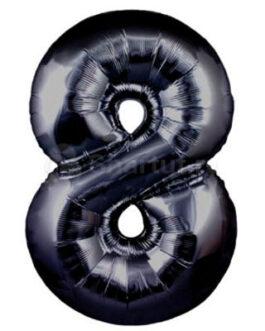 Шар цифра 8 черная