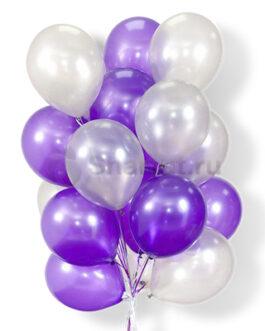 Облако воздушных фиолетовых шаров 25 шт