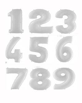 Шары цифры белые