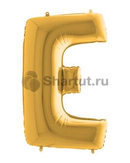 Фольгированная золотая буква E