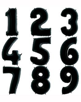 Шары цифры черные