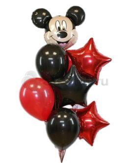 Композиция из шаров с Микки Маусом